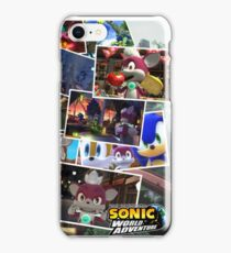 Sonic Unleashed - Sonic World Adventure photo collage iPhone Case/Skin