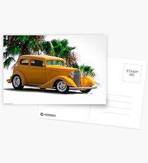 1933 Pontiac Deluxe 8 Touring Sedan III Postcards