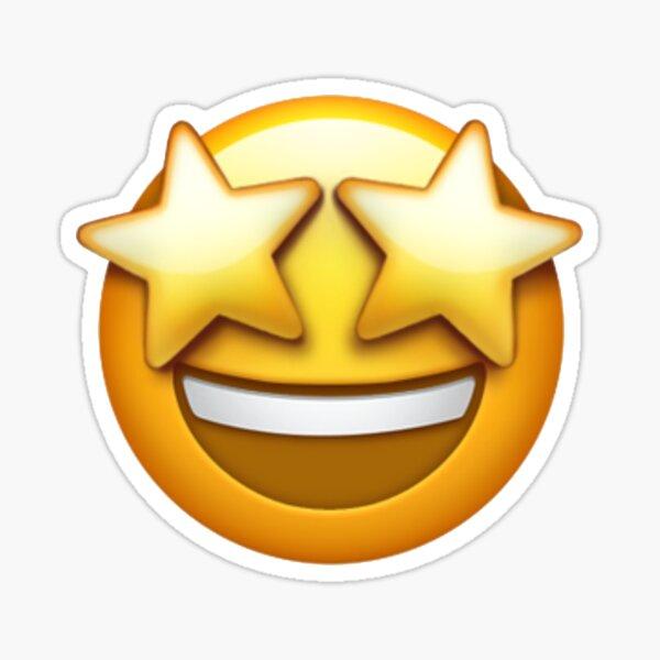 Starstruck Emoji Pegatina