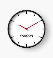 Yangon, Myanmar Clock