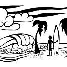 Sunset Surfer by Christopher Johnson