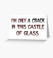 Linkin Park Castle Of Glass Greeting Card