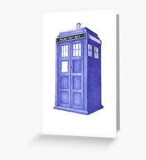 That wonderful Blue Box Greeting Card