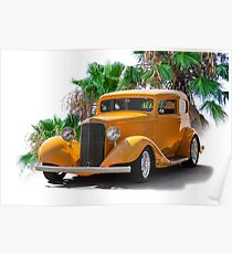 1933 Pontiac Deluxe 8 Touring Sedan Ia Poster
