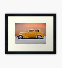 1933 Pontiac Deluxe 8 Touring Sedan 'Profile' I Framed Print