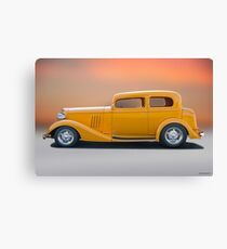 1933 Pontiac Deluxe 8 Touring Sedan 'Profile' I Canvas Print