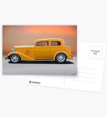 1933 Pontiac Deluxe 8 Touring Sedan 'Profile' I Postcards