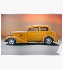 1933 Pontiac Deluxe 8 Touring Sedan 'Profile' I Poster
