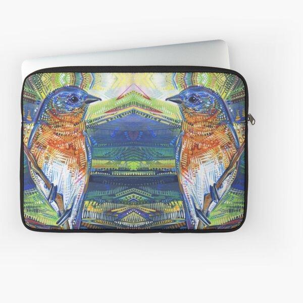 Happy Bird Painting - 2017 Laptop Sleeve