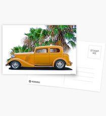1933 Pontiac Deluxe 8 Touring Sedan 'Profile' II Postcards