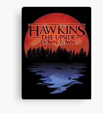 stranger things hawkins tourism upside down Canvas Print