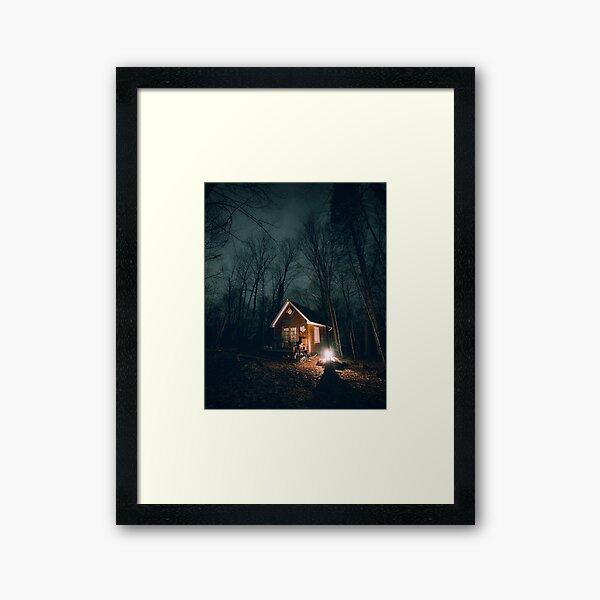 October Nights at the Cabin Framed Art Print