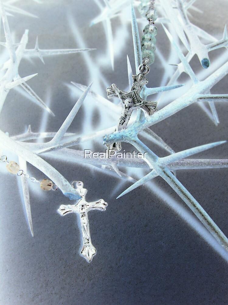 He Jesus Endured the Cross set before HIM  by RealPainter