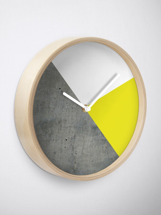 Alternate view of Concrete vs Corn Yellow Clock