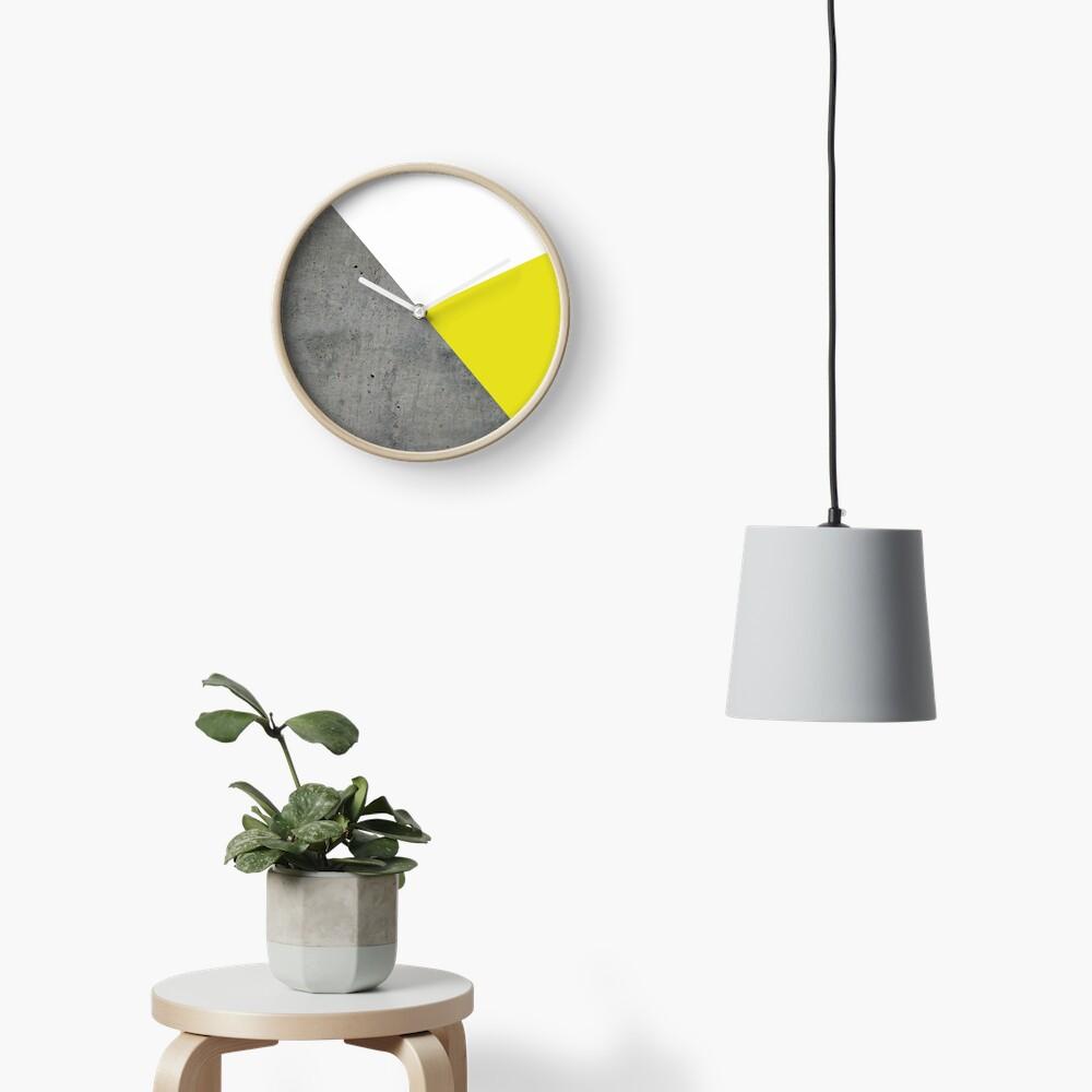 Concrete vs Corn Yellow Clock