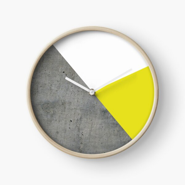 Concrete vs Corn Yellow Clock