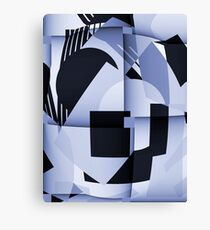 Playing the blues modern abstract cubism Canvas Print