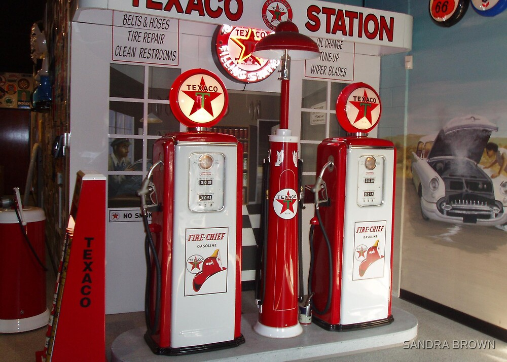 OLD GAS PUMPS by SANDRA BROWN
