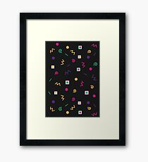 1980s Pattern Framed Print