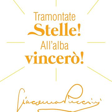 Tramontate Stelle, All'alba Vincerò! by Elisvass