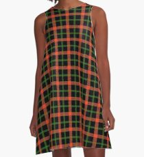 Halloween or Autumnal Plaid A-Line Dress