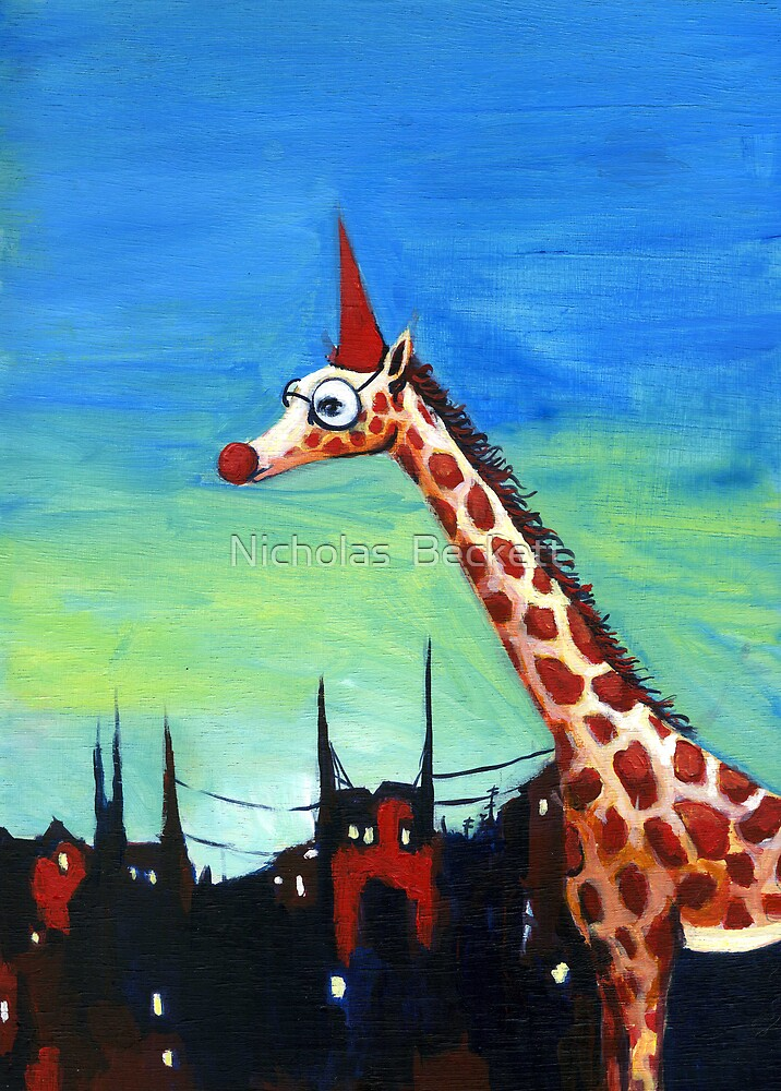 Party Giraffe by Nicholas  Beckett