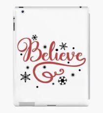 Believe Christmas Typography Design iPad Case/Skin