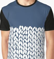 Half Knit Navy Graphic T-Shirt