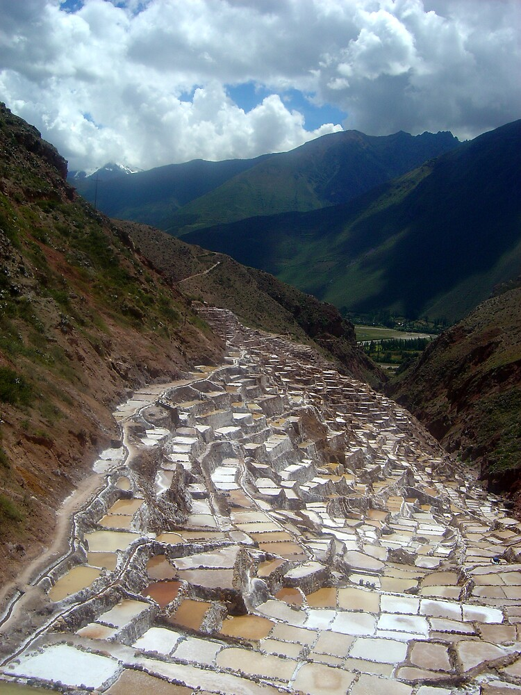 Inca salt pans in Peru by mojgan
