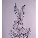 Moon Hare and the Violets by georgiescraft
