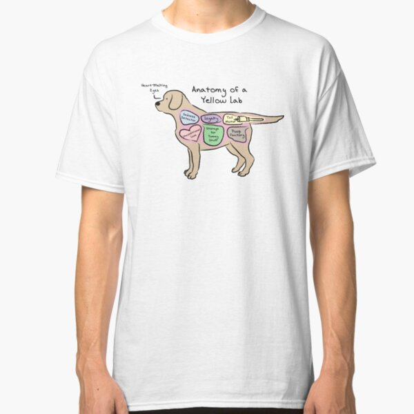 Anatomy of a Yellow Lab Classic T-Shirt
