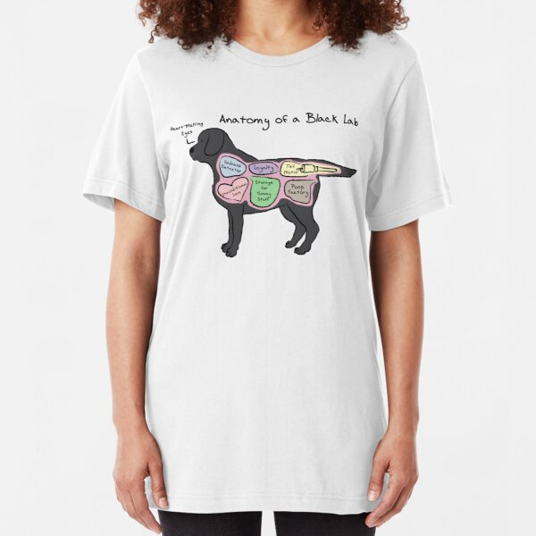 Anatomy of a Black Lab Slim Fit T-Shirt