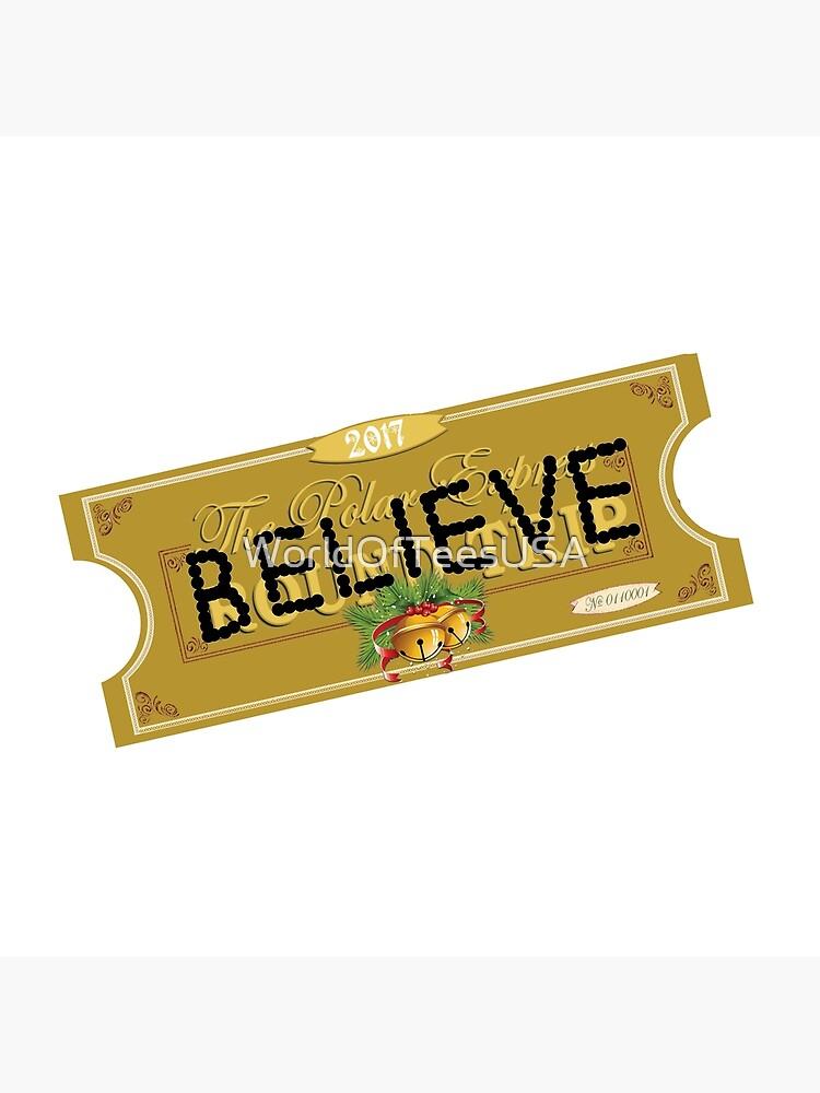 Believe Polar Express Santa Ticket Tote Bag By Worldofteesusa Redbubble
