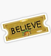 Believe Polar Express Santa Ticket Sticker