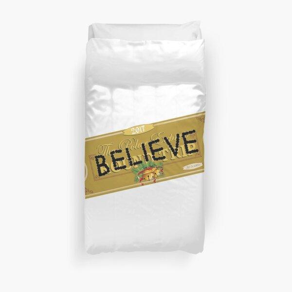 Believe Polar Express Santa Ticket Duvet Cover