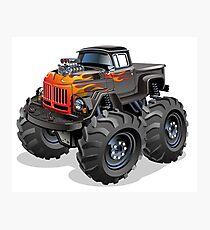 Cartoon Monster Truck Photographic Print