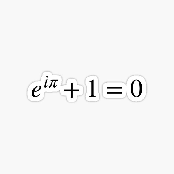 Euler's identity, mathematical equation Sticker
