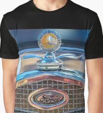 Car Hood Ornament and Grill Graphic T-Shirt