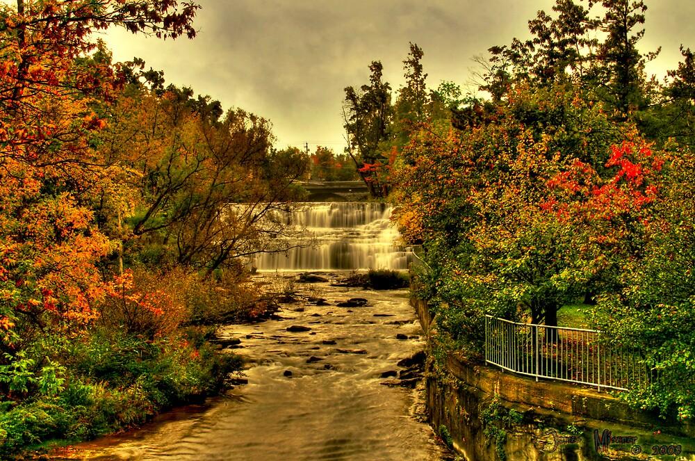 Autumn at Glen Falls by BrokenGargoyle