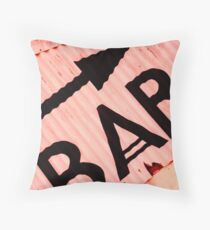 Whitstable Beach Abstract - UK589/06 - www.lizgarnett.com Throw Pillow
