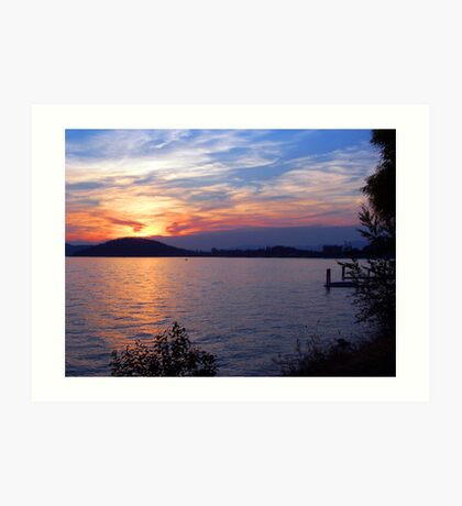 Lake Coeur d' Alene Sunset Art Print