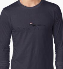 TyrannoSanta Rex - Black Long Sleeve T-Shirt
