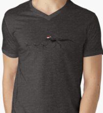 TyrannoSanta Rex - Black Men's V-Neck T-Shirt