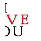 I Love You (right half) by Pekka Nikrus