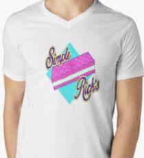 Simple Ricks  Men's V-Neck T-Shirt