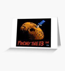 Friday the 13th 8-bit art Greeting Card