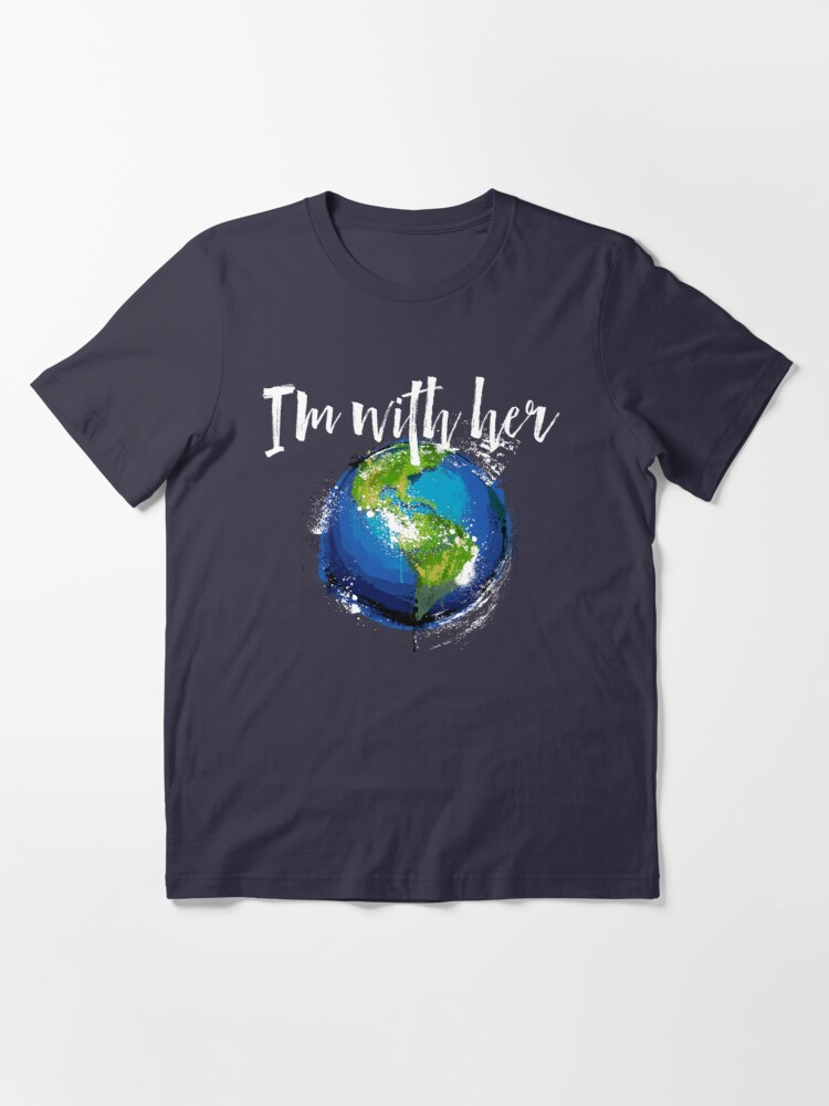 Alternate view of I'm With Earth Essential T-Shirt