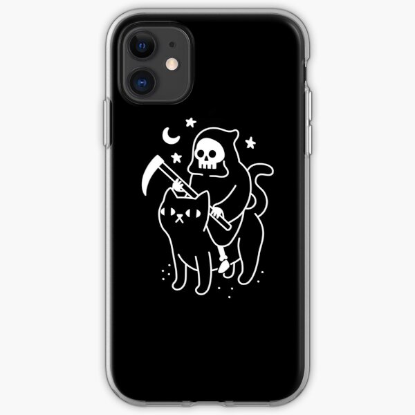 Death Rides A Black Cat iPhone Soft Case