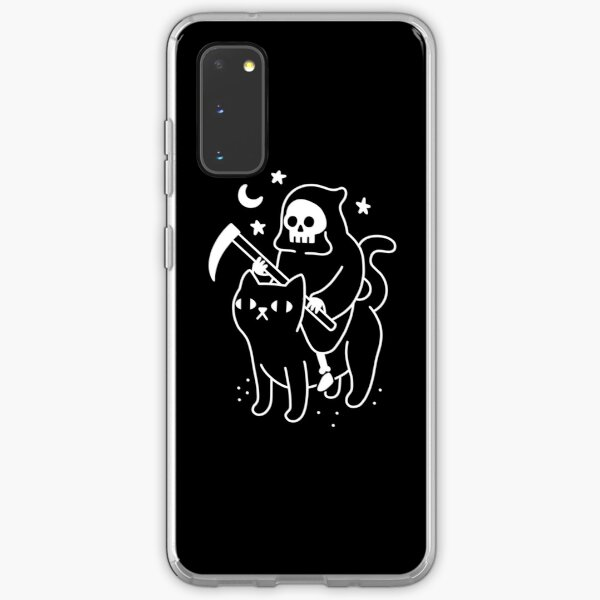Death Rides A Black Cat Samsung Galaxy Soft Case