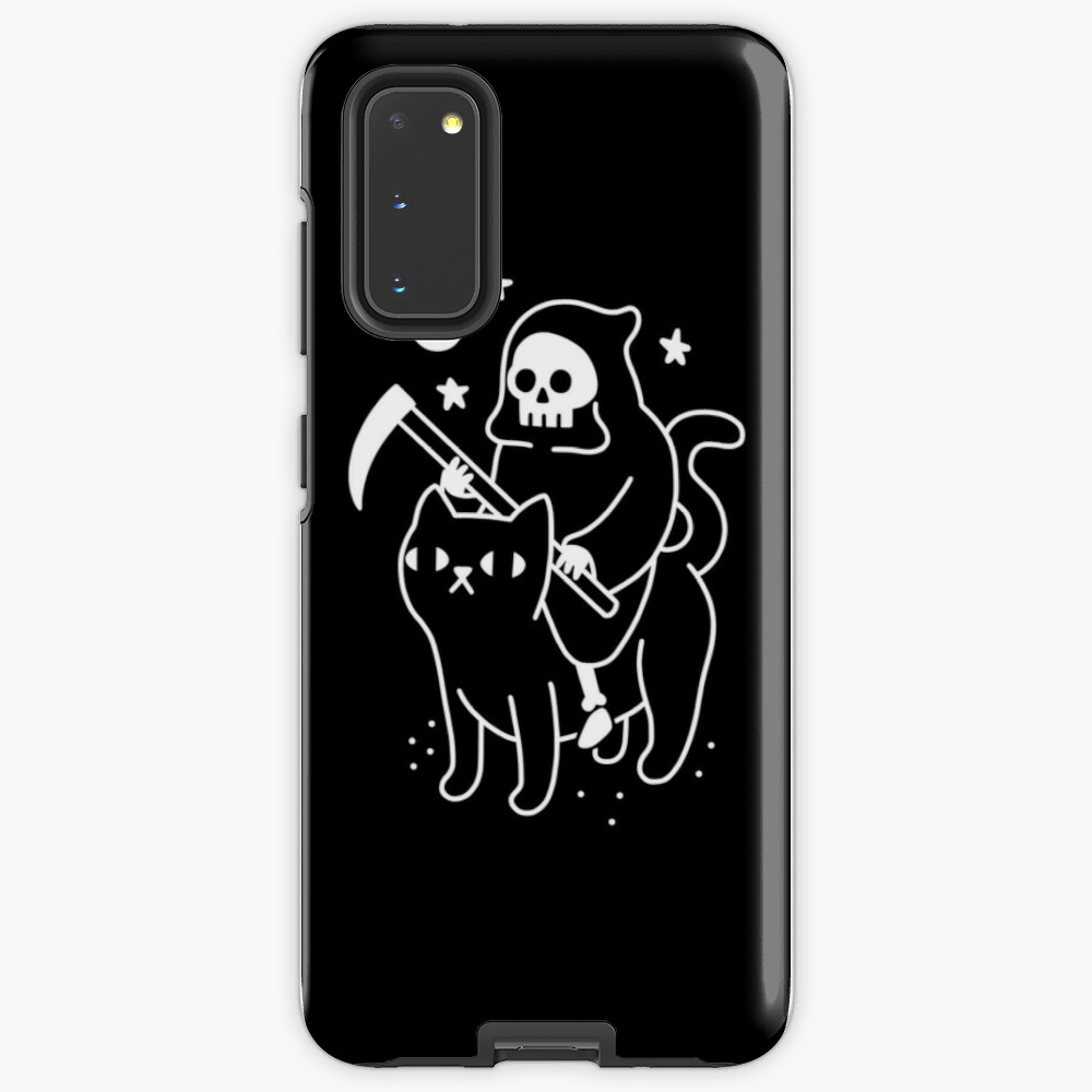 Death Rides A Black Cat Case & Skin for Samsung Galaxy